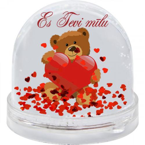 "Bumba ar mirdzošām sirsniņām ""Es tevi mīlu"""