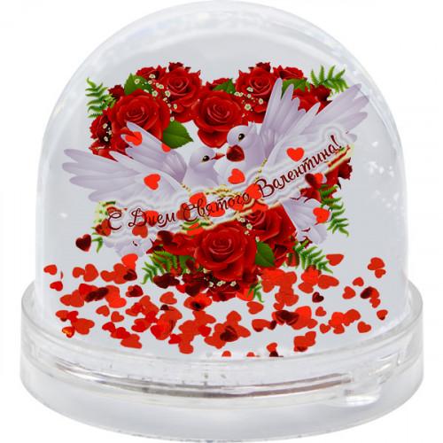 "Bumba ar mirdzošām sirsniņām ''С Днем Святого Валентина"""