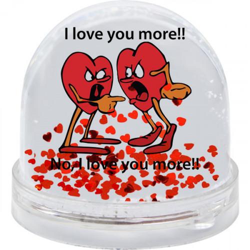 """Шар с блестками-сердечками  """"I love You more"""""""