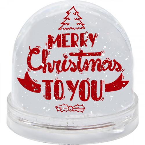 Sniega bumba ''Merry Christmas to you''