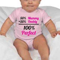 """""""100% perfect"""" bērnu bodijs ar termoapdruku"""