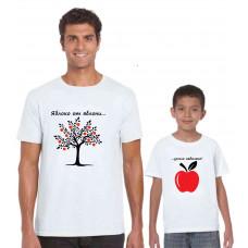 """""""Яблоко от яблони"""" t-kreklu komplekts"""