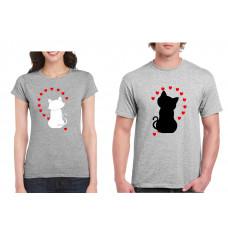 """""""Cats in love"""" t-kreklu komplekts"""