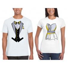 """""""Līgava un līgavainis"""" t-kreklu komplekts"""