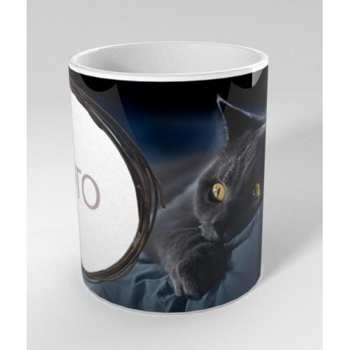 """""""Melnais kaķis"""" Кружка  330 ml"""