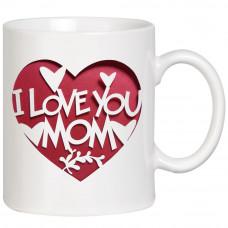 "Krūze ""I Love You Mom"""