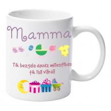"""Krūze """"Mamma Tik bezgala daudz mīlestības tik īsā vārdā"""""""