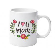 """Krūze """"I Love u mom"""""""