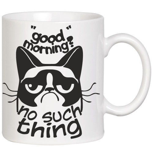 """""""Good morning? No such thing""""  Кружка"""