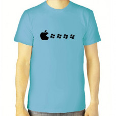 """Apple eat"" T-krekls vīriešu ar termoapdruku"