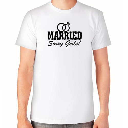 """Married (Sorry Girls!)""   Футболка мужская"