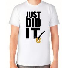 """""""Just did it"""" T-krekls vīriešu ar termoapdruku"""
