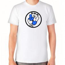"""""""BMW is Life"""" T-krekls vīriešu ar termoapdruku"""