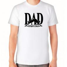 """""""Dad лучшая семья"""" T-krekls vīriešu ar termoapdruku"""