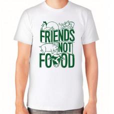 """""""Friends not food"""" T-krekls vīriešu ar termoapdruku"""