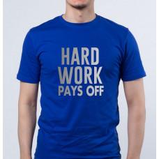 """Hard work pays off"" T-krekls vīriešu ar termoapdruku"