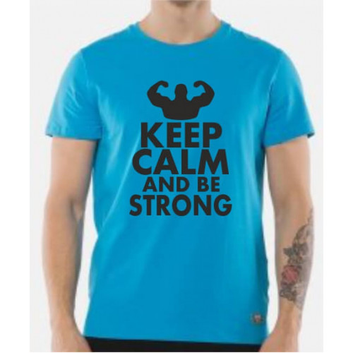 """Keep calm and be strong""  Футболка мужская"