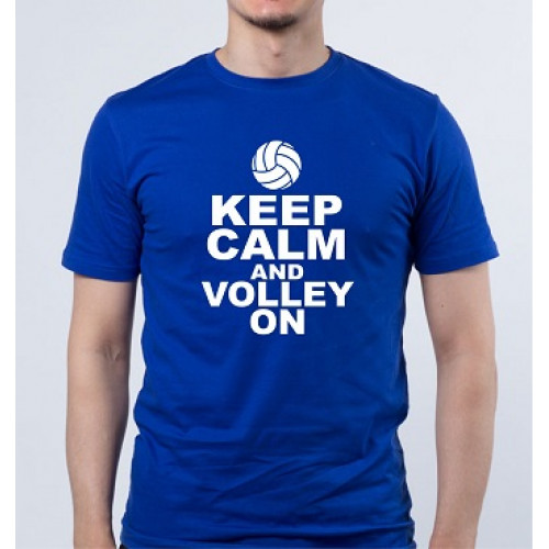 """Keep calm and volley on""  Футболка мужская"