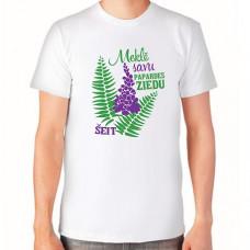 """""""Meklē savu papardes ziedu šeit"""" T-krekls vīriešu ar termoapdruku"""