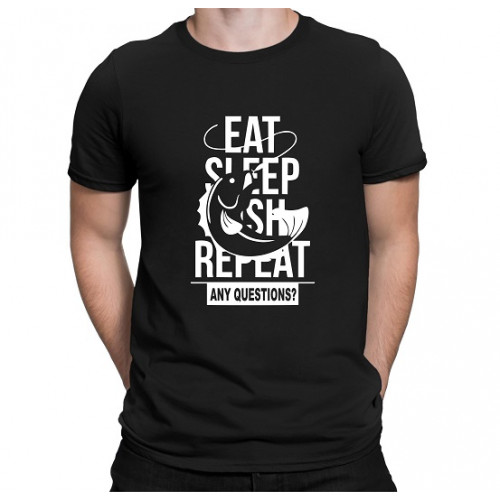 """Eat. Sleep. Fish. Repeat.""   Футболка мужская"