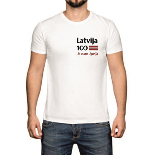 """Latvija 100""   Футболка мужская"