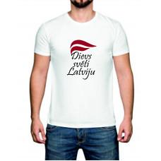 """""""Dievs svēti Latviju"""" T-krekls vīriešu ar termoapdruku"""