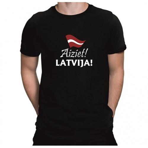 """Aiziet, Latvija!""   Футболка мужская"