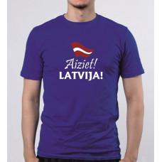 """""""Aiziet! LATVIJA!"""" T-krekls vīriešu ar termoapdruku"""