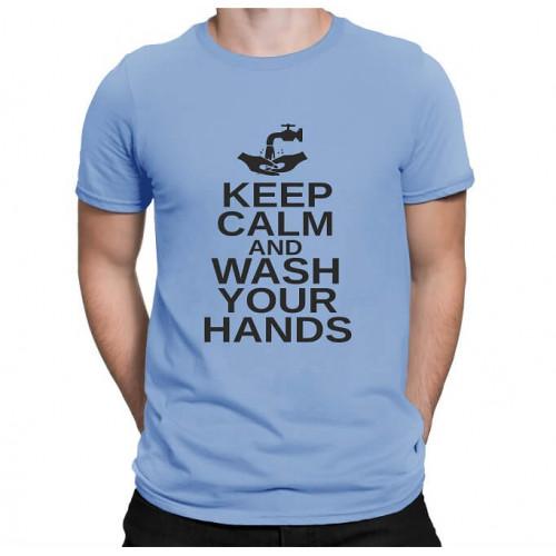 """Keep calm and wash your hands""   Футболка мужская"