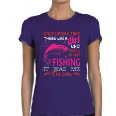 """""""Fishing"""" sieviešu T-krekls"""