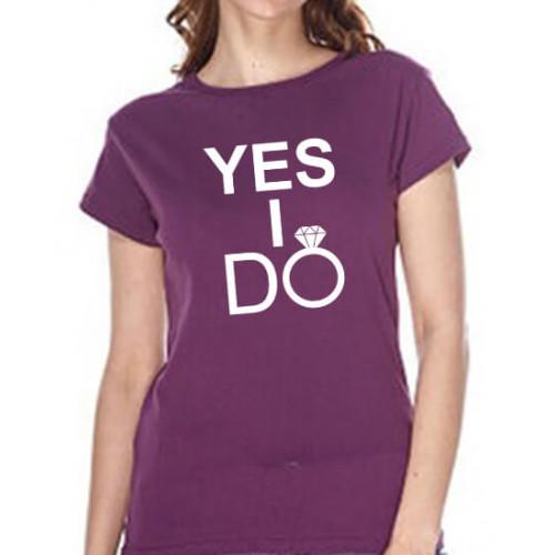 """Yes I do"" Футболка женская"