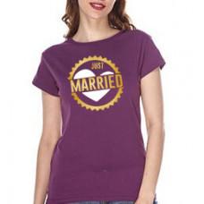 """""""Just Married"""" sieviešu T-krekls"""