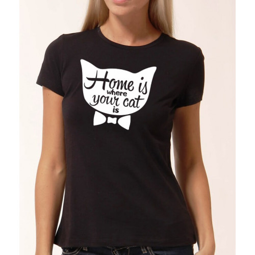 """""""Home is where your cat is""""  Футболка женская"""