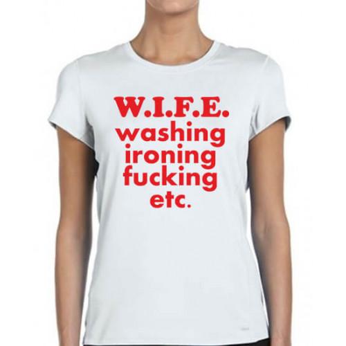 """""""W.I.F.E.""""   Футболка женская"""