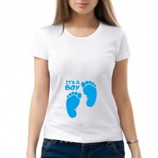 """""""It's a boy"""" sieviešu T-krekls"""