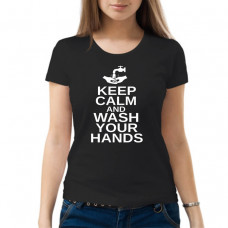"""Keep calm and wash your hands"" sieviešu T-krekls"