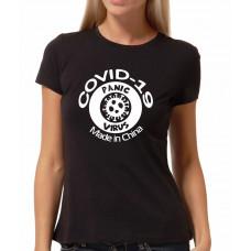 """""""Covid-19 Panic virus"""" sieviešu T-krekls"""
