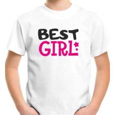 """Best Girl"" T-krekls bērnu ar termoapdruku"