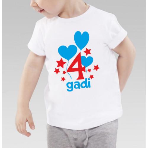 """""""4 gadi"""" T-krekls bērnu ar termoapdruku"""