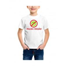 """""""Paliec mājās!"""" T-krekls bērnu ar termoapdruku"""