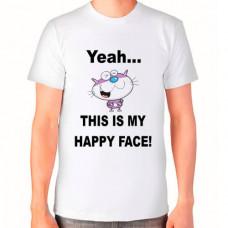 """""""This is my happy face!"""" T-krekls vīriešu ar sublimācijas apdruku"""