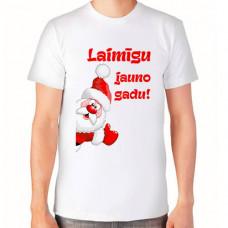 """""""Laimīgu jauno gadu!"""" T-krekls vīriešu ar sublimācijas apdruku"""