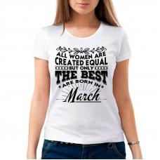 """""""The Best Women are born in ......."""" sieviešu T-krekls ar sublimācija apdruku"""