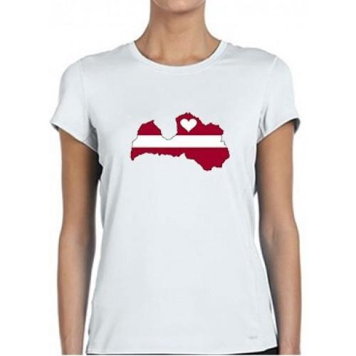"""""""Mīlu Latviju"""" T-krekls sieviešu"""