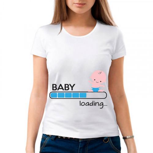 """Baby loading"" Футболка для будущих мам"