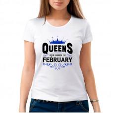 """""""Queens are born in ........."""" sieviešu T-krekls ar sublimācija apdruku"""