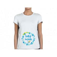 """""""Baby inside"""" sieviešu T-krekls ar sublimācija apdruku"""
