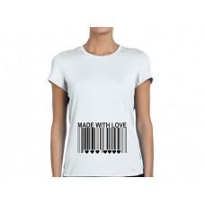 """Made with Love"" sieviešu T-krekls ar sublimācija apdruku"