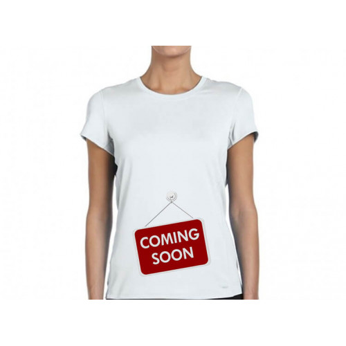 """Coming soon""  футболка женская"