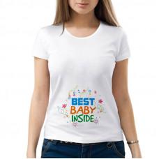 """""""Best baby inside"""" sieviešu T-krekls ar sublimācija apdruku"""